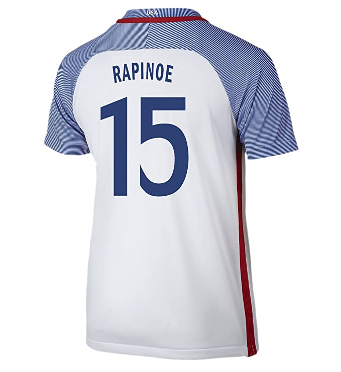 50b69840912 Amazon.com  NIKE Rapinoe  15 USA Home Soccer Jersey Rio 2016 Olympics  Youth.  Clothing