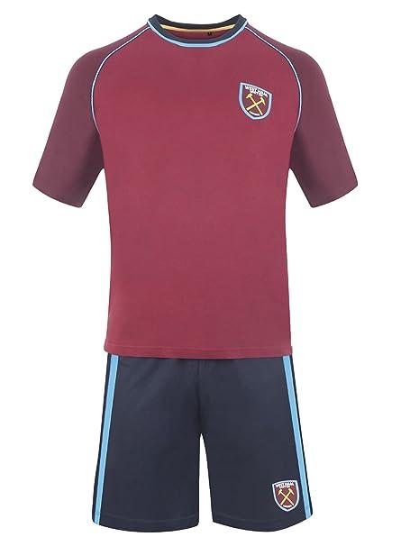 West Ham United F.C.. - Pijama - para Hombre Granate: Amazon.es ...