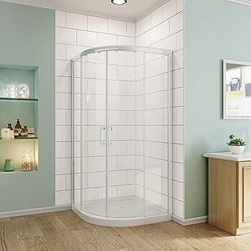 SUNNY SHOWER Corner Shower Doors Neo Round Shower Enclosure with 1