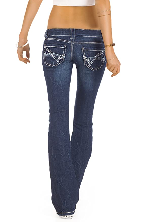 fa0ce50c6963 bestyledberlin Damen Jeans, Bootcut Hüftjeans, Schlaghosen j73e  Amazon.de   Bekleidung