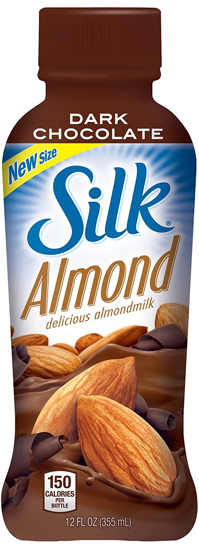 Silk Almond Milk, Dark Chocolate, 12 Ounce (Pack of 12): Amazon ...
