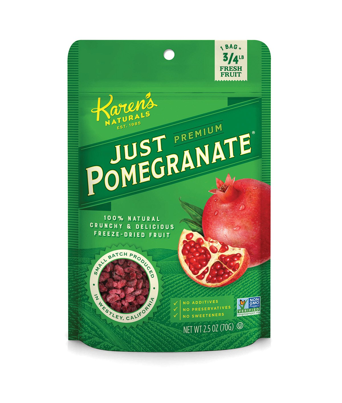 Karen's Naturals Just Tomatoes, Just Pomegranate 2.5 Ounce Pouch (Packaging May Vary)