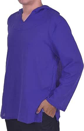 Lofbaz de los Hombres Sudadera con Capucha Camisa Hippie de Playa de Yoga Boho 100% algodón Suave: Amazon.es: Ropa y accesorios