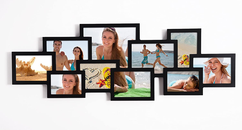 Amazon.de: EUGAD 10 Fotos Collage Bilderrahmen 9342, Holz Rahmen ...