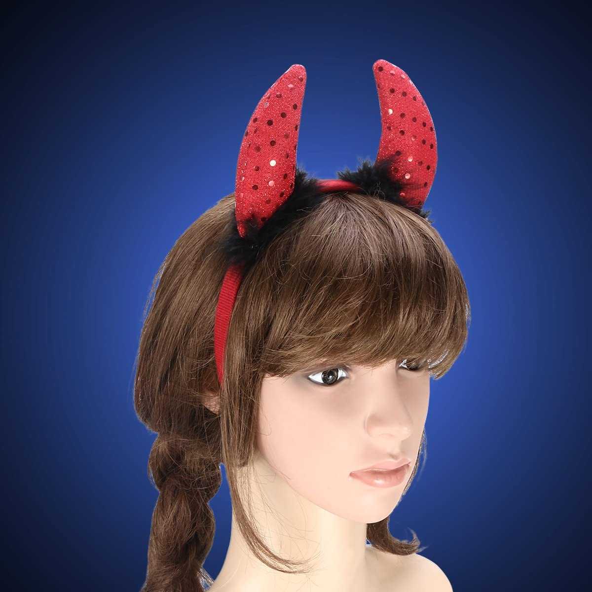 50X DEVIL HORNS ON HEADBAND//TRIDENT FORK HALLOWEEN FANCY DRESS