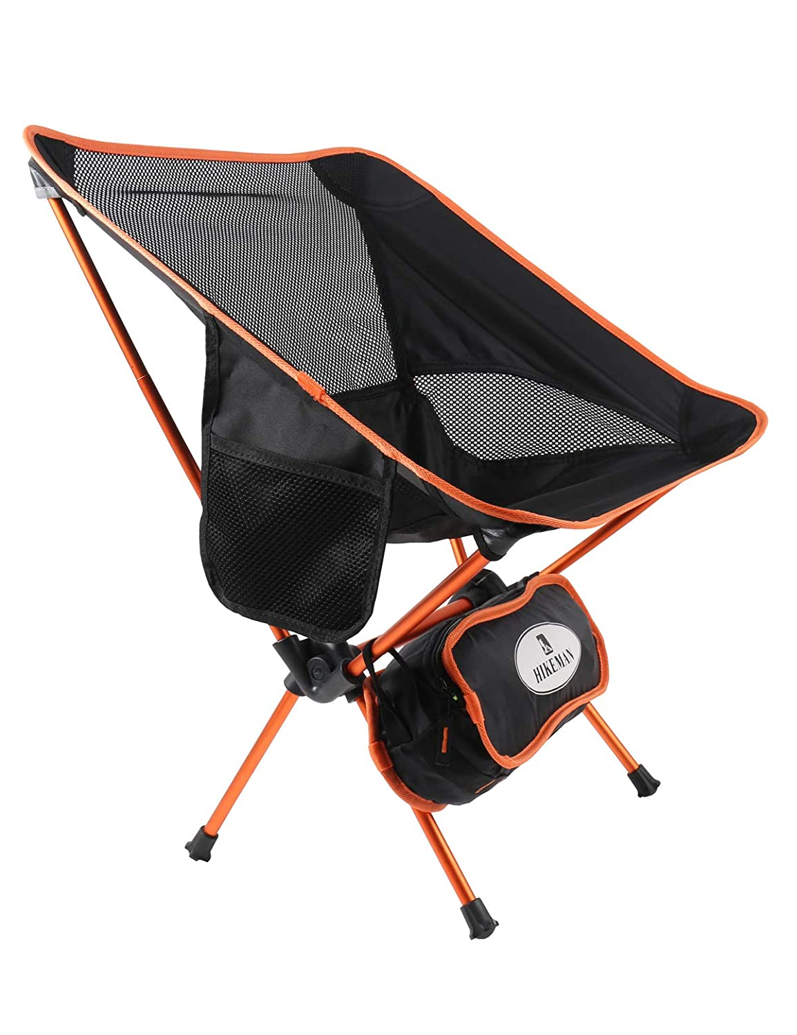 Hikeman Ultralight Portable Foldable Camping Backpacking Chairs Carry Bag, Lightweight Breathable Comfortable Folding Picnic