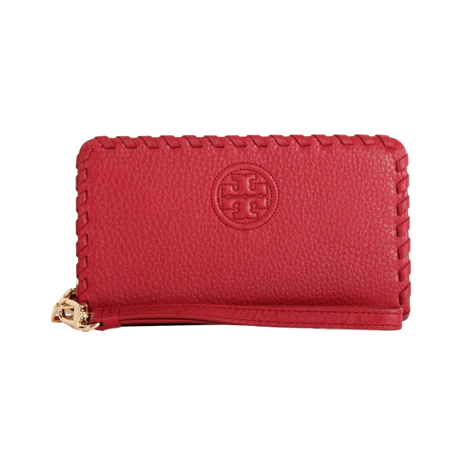 Tory Burch Marion Smartphone Leather Wristlet Wallet Style NO. 40855 (Redstone) by Tory Burch