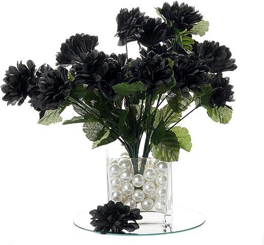 Amazon Com Balsacircle 84 Black Silk Chrysanthemums 12 Bushes