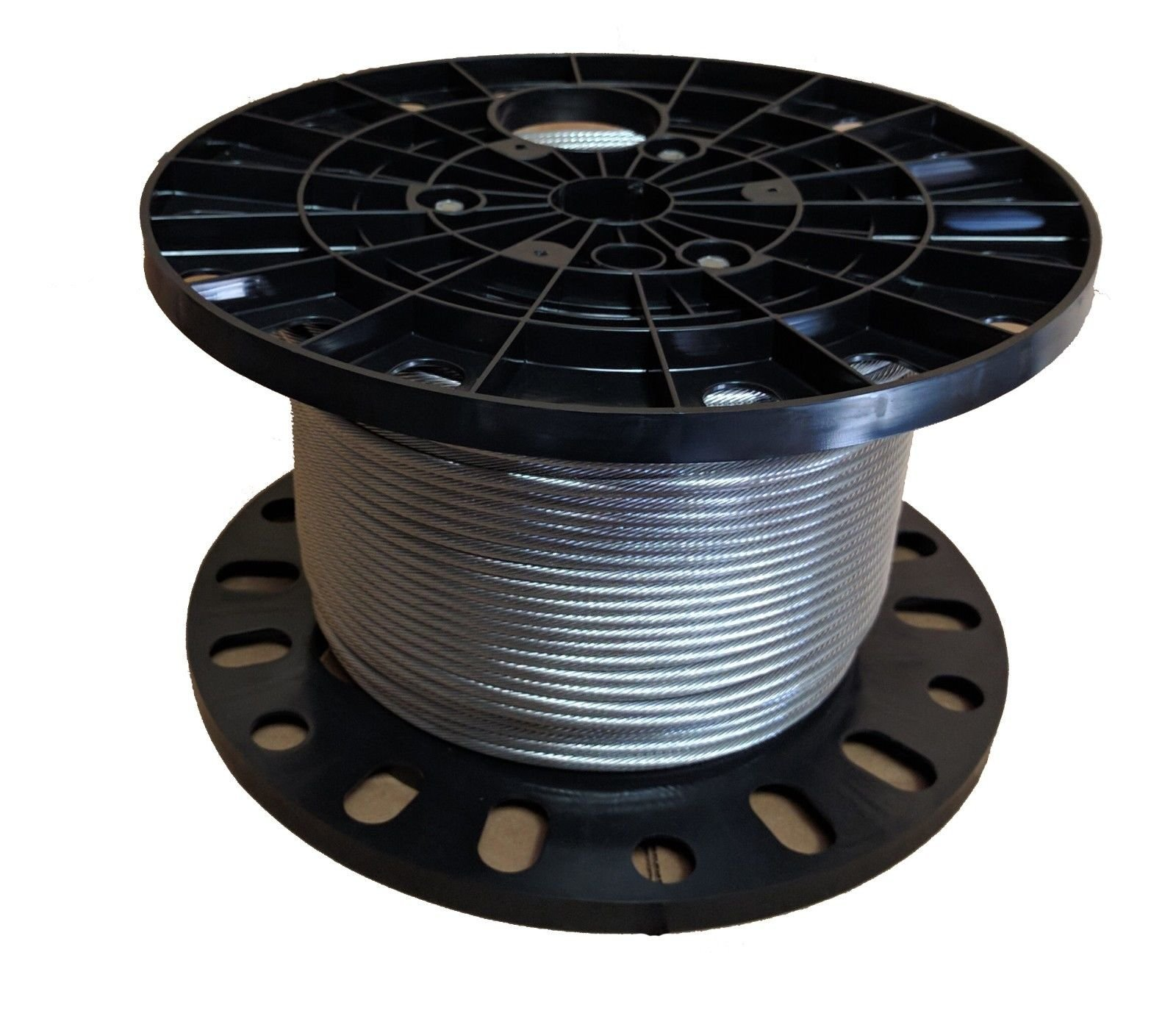 3/8'' Stainless Steel Cable Wire Rope 7x19 Type 316 (100 Feet)