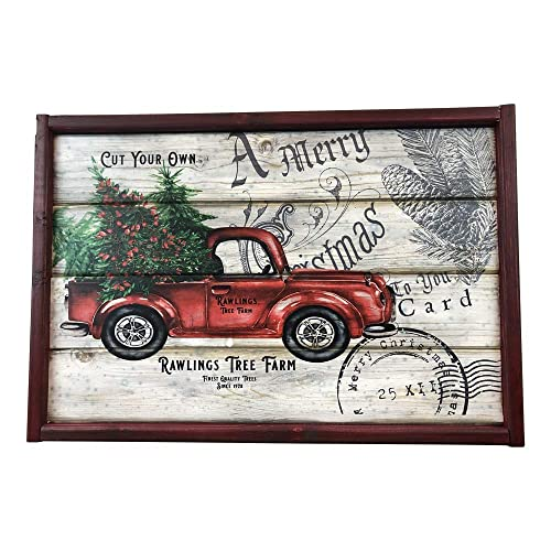 Amazon Com Christmas Tree Farm Red Truck Personalized Distressed