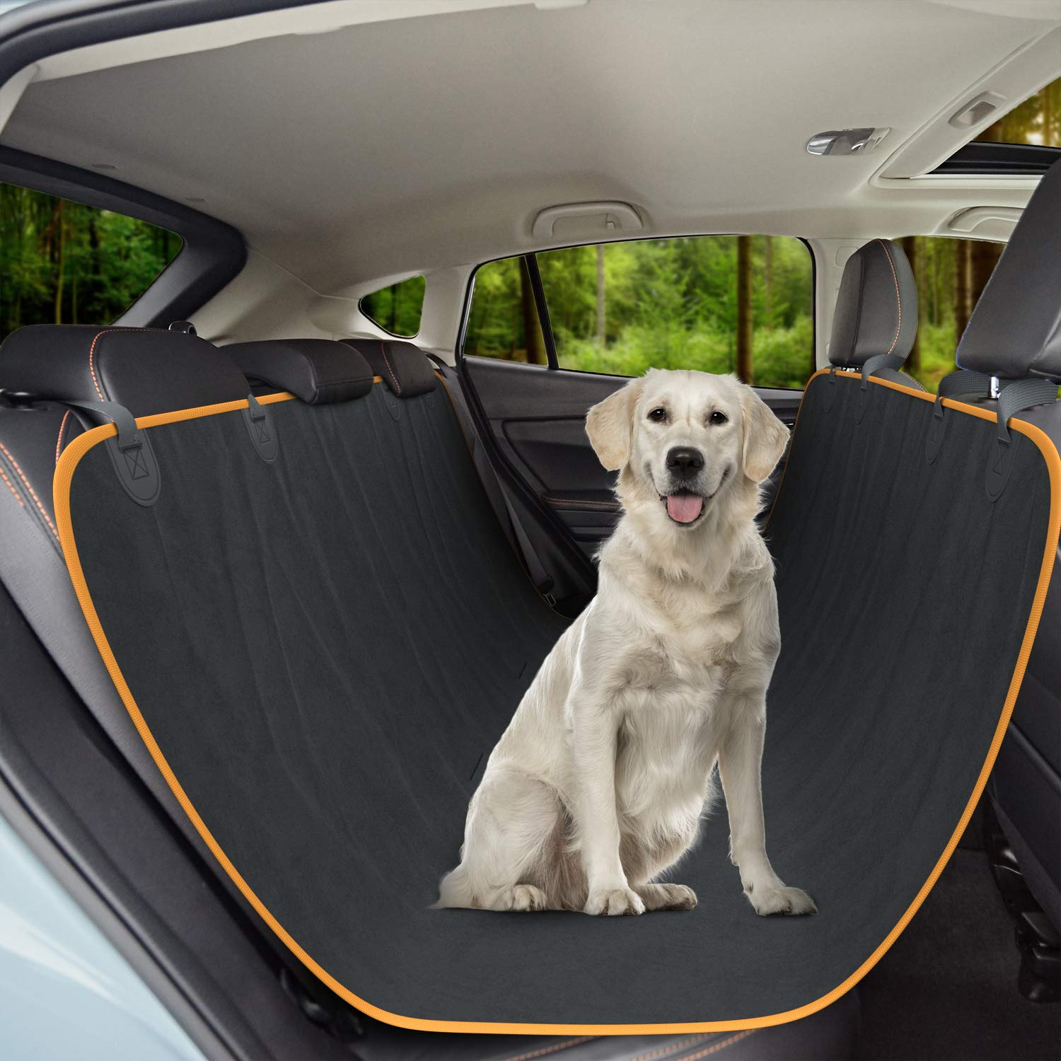 Active Pets Original Dog Back Seat Cover Protector Waterproof Scratchproof Hammock for Dogs Backseat Protection Against Dirt and Pet Fur Durable Pets Seat Covers for Cars Trucks SUVs by Active Pets