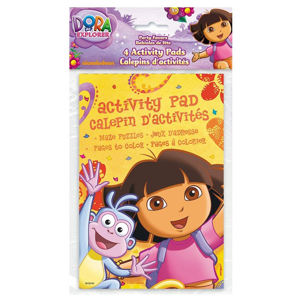 Amazon.com: Dora the Explorer Activity Book Party Favors, 4ct: Toys ...