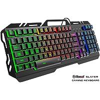 Offbeat® Slayer Wired Gaming Mechanical Like Keyboard 9 Non-Conflicting Keys, Water-Resistant, Led Backlight Keys with Zero Lag (Medium, Black)