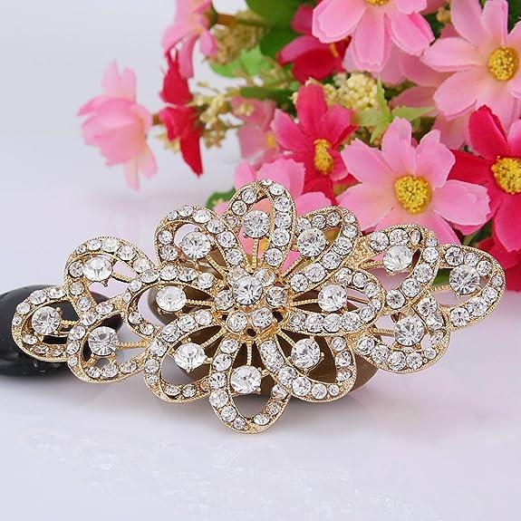 EVER FAITH® Austrian Crystal 4 Inch Filigree Bowknot Bridal Brooch Clear ct18jat