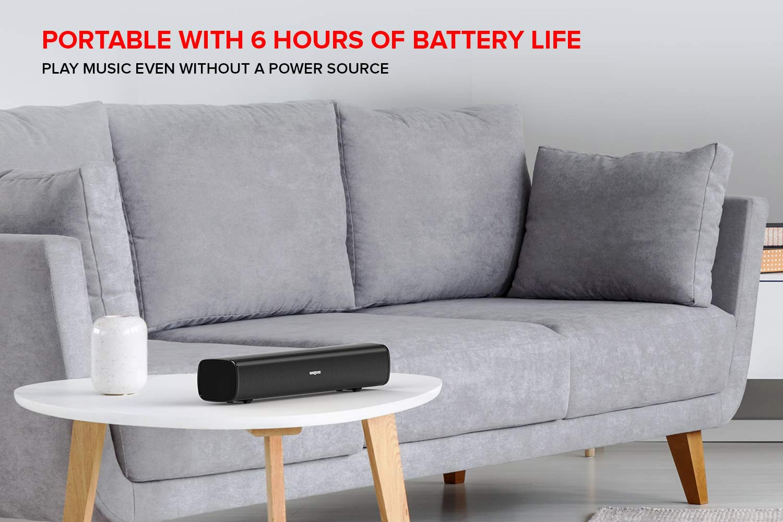 Barra de Sonido de Ordenador Creative Stage Air para Colocar bajo el Monitor: portátil y compacta, con alimentación USB, radiador pasivo, Bluetooth, ...