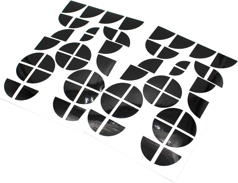 Finest-Folia Emblem Ecken Aufkleber Glanz K004 Schwarz Schwarz