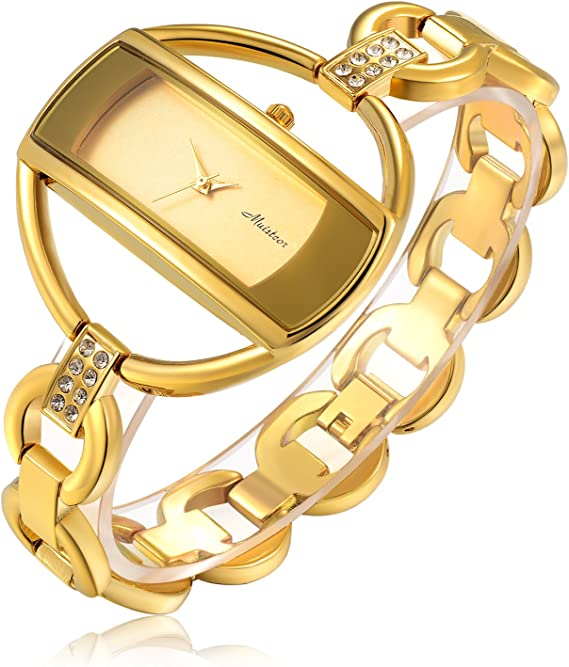 Amazon.com: Reloj de pulsera para mujer de lujo, de cuarzo ...