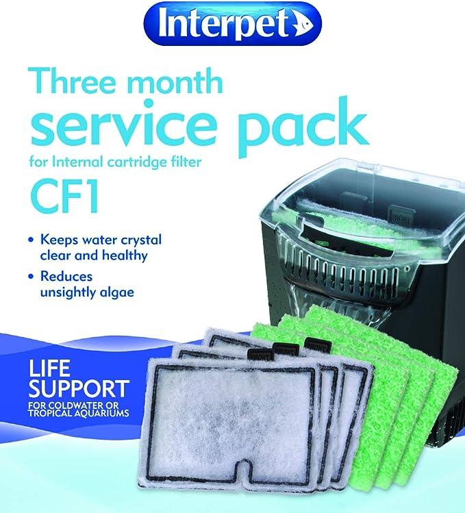 Interpet tres meses de Service Pack para el cartucho de filtro interior-CF 1