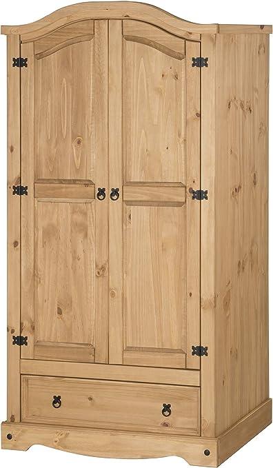 Mercers Furniture Trade Corona Grey Wax 1 Door Arch Top Wardrobe