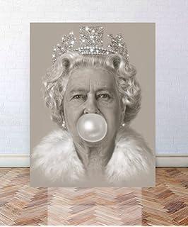 Queen Elizabeth Ii Bubblegum Art Print Picture Poster Print