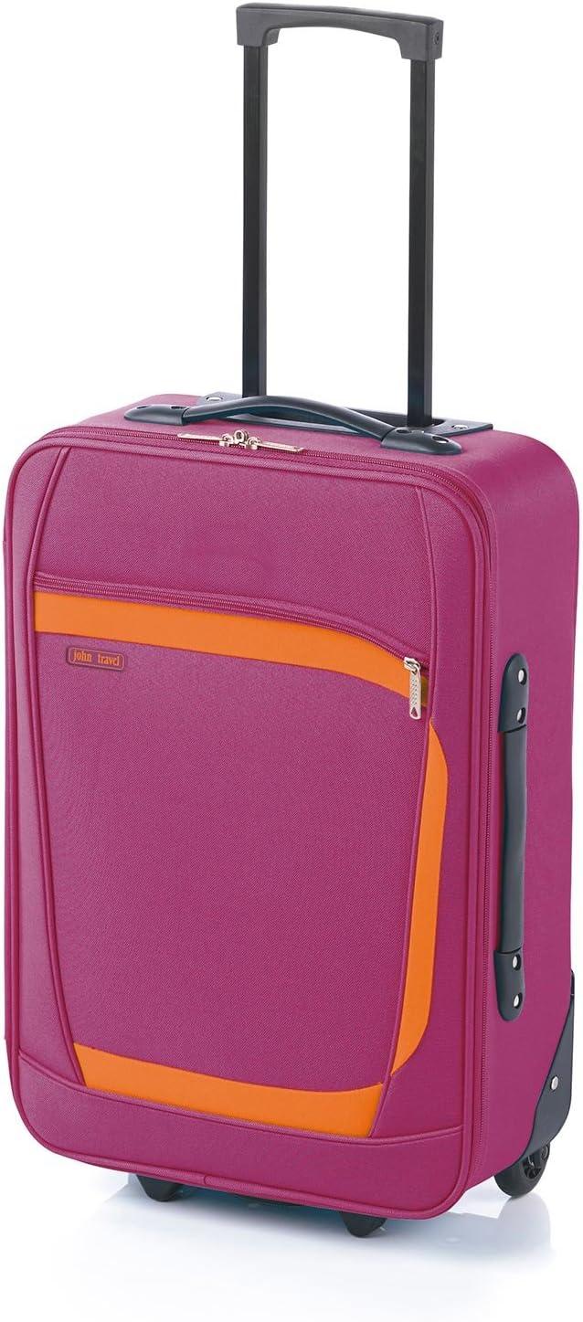 Maleta de Viaje 2 Ruedas, Play de John Travel (76 cm, Fucsia Grande) Travel Play Maleta Grande 4R - Fucsia