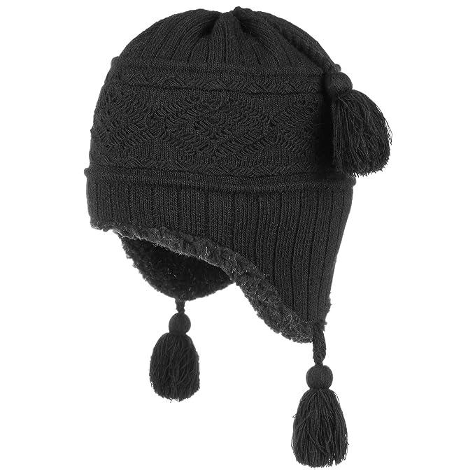 Berretto Peruviano Joylong berretto con pompon berretti invernali a maglia  Taglia unica - nero 1c85ca601540