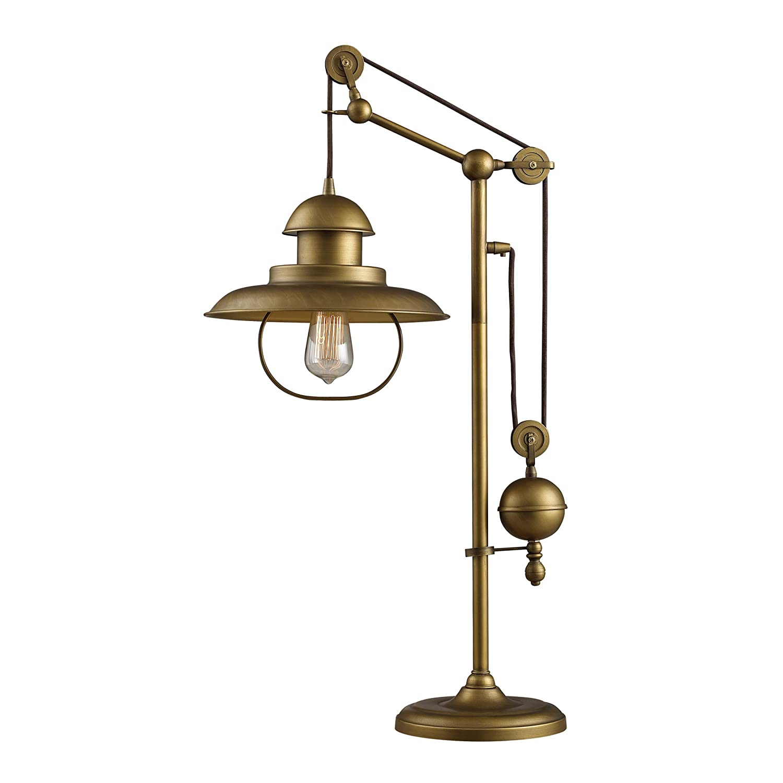 Dimond Lighting D2252 Farmhouse Table Lamp Antique Brass Finish