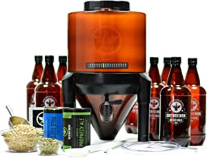 BrewDemon Craft Beer Brewing Kit Extra with Bottles - Conical Fermenter Eliminates Sediment and Makes Great Tasting Home Made Beer