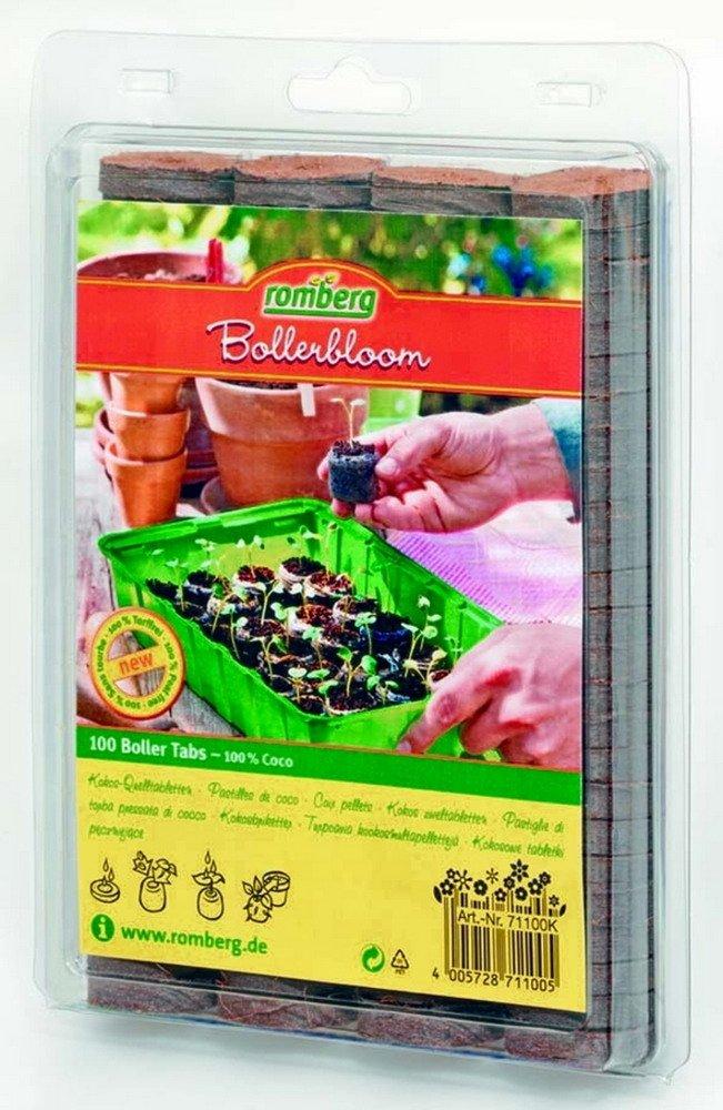 Romberg - 100 Coco pastillas de fuente de 38 mm de diámetro, : Amazon.es: Jardín