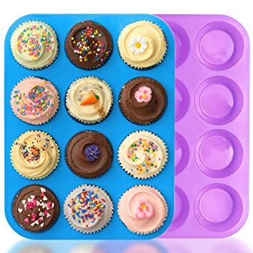 Sonstige Neu Backen Kuchen Silikon 2 Set 12 Muffin Form Backen Matte Rot Blau Oder Lila Backbleche & -formen