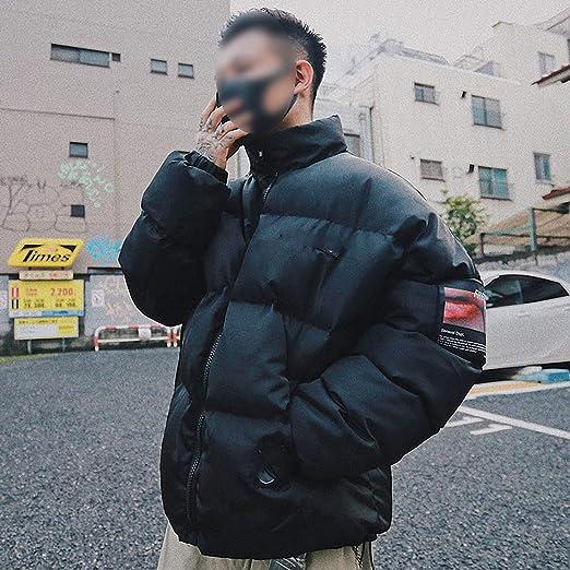 Red Jacket Winter Streetwear Men Hip Hop Windbreaker Oversized Padded Jacket Coat Cotton Outwear at Amazon Mens Clothing store: