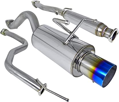 92-95 CIVIC 3DR STAINLESS STEEL PERFORMANCE CATBACK EXHAUST SYSTEM 4 TIP