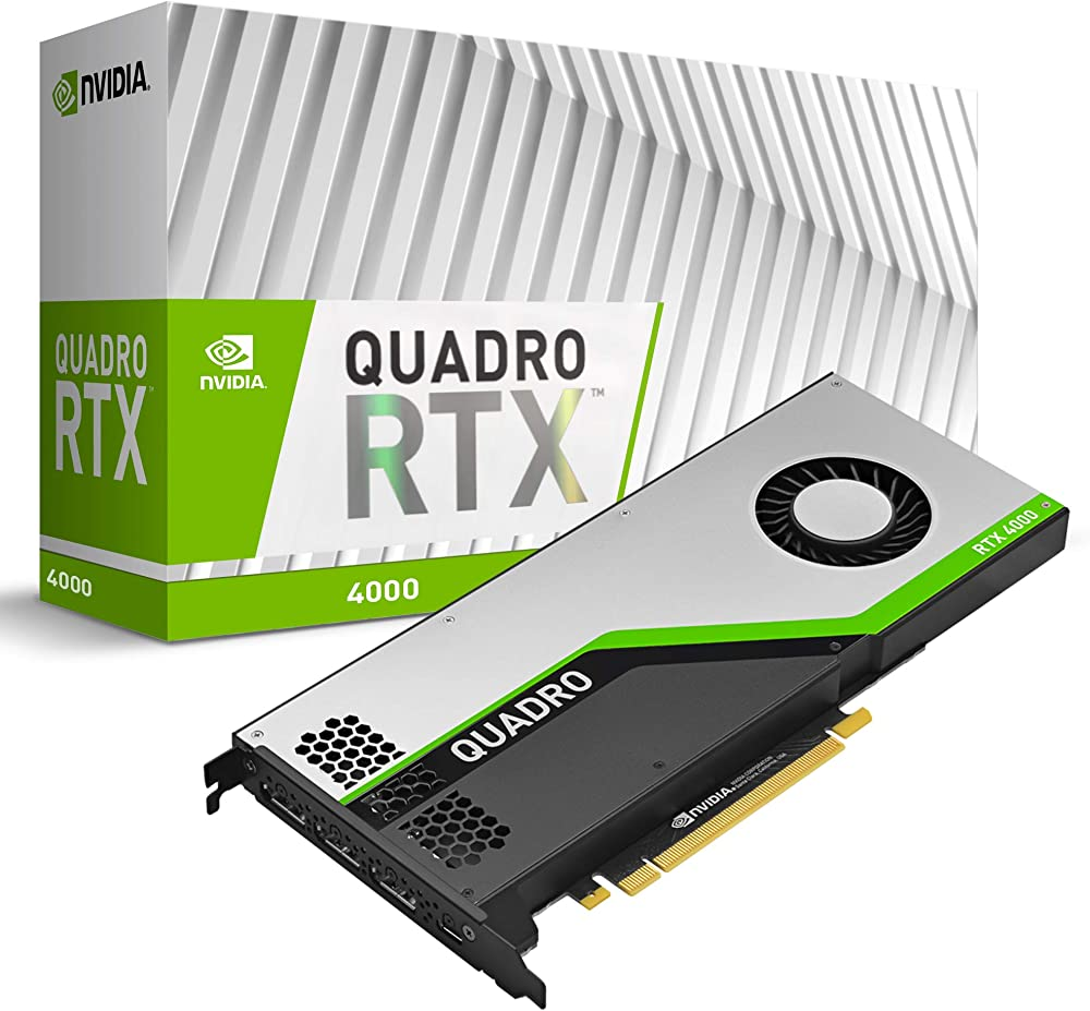 Pny quadro rtx 4000 scheda video, 8 gb, gddr6