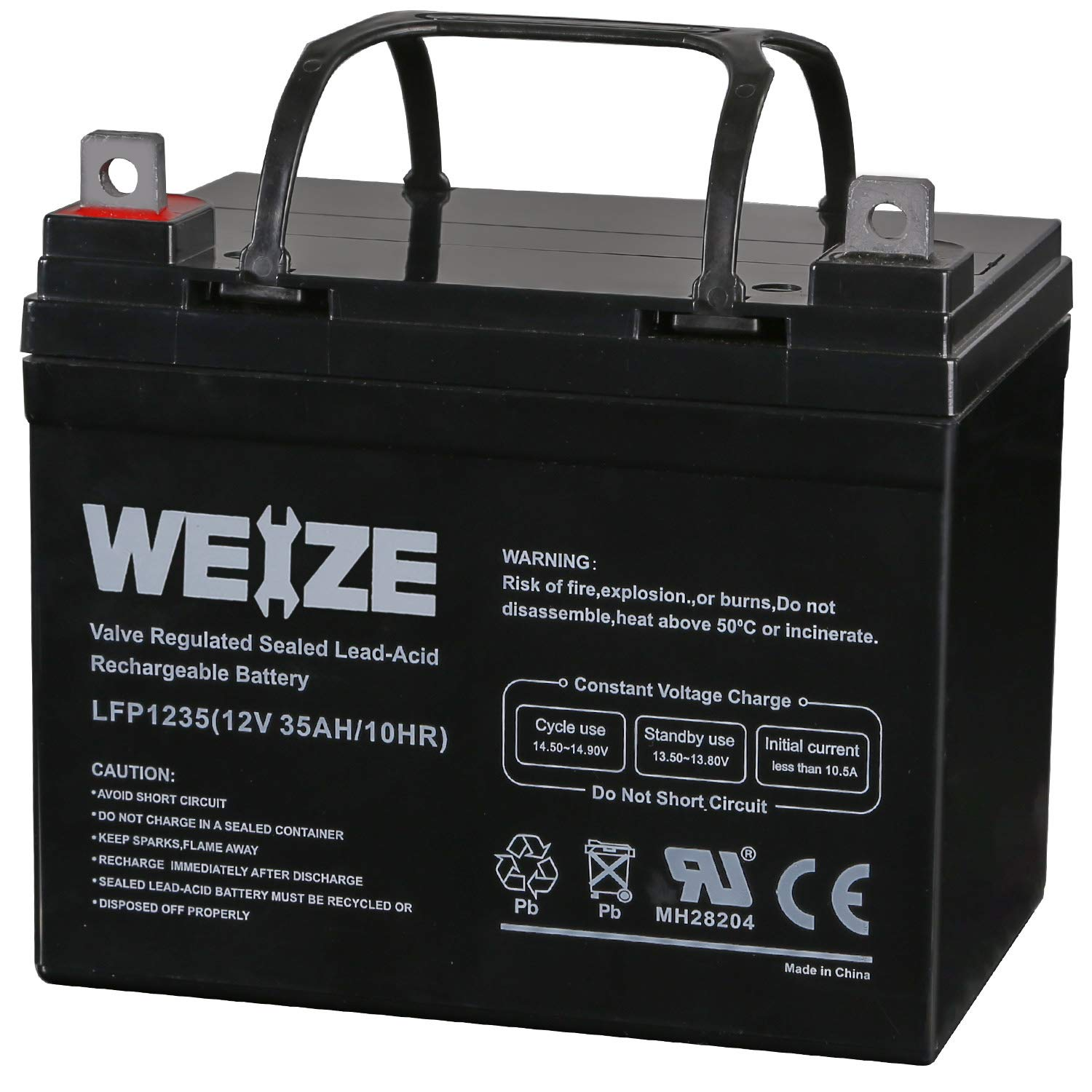 Weize 12V 35AH Rechargeable SLA Deep Cycle AGM Battery Replaces 12 Volt 33AH, 34AH, 36AH