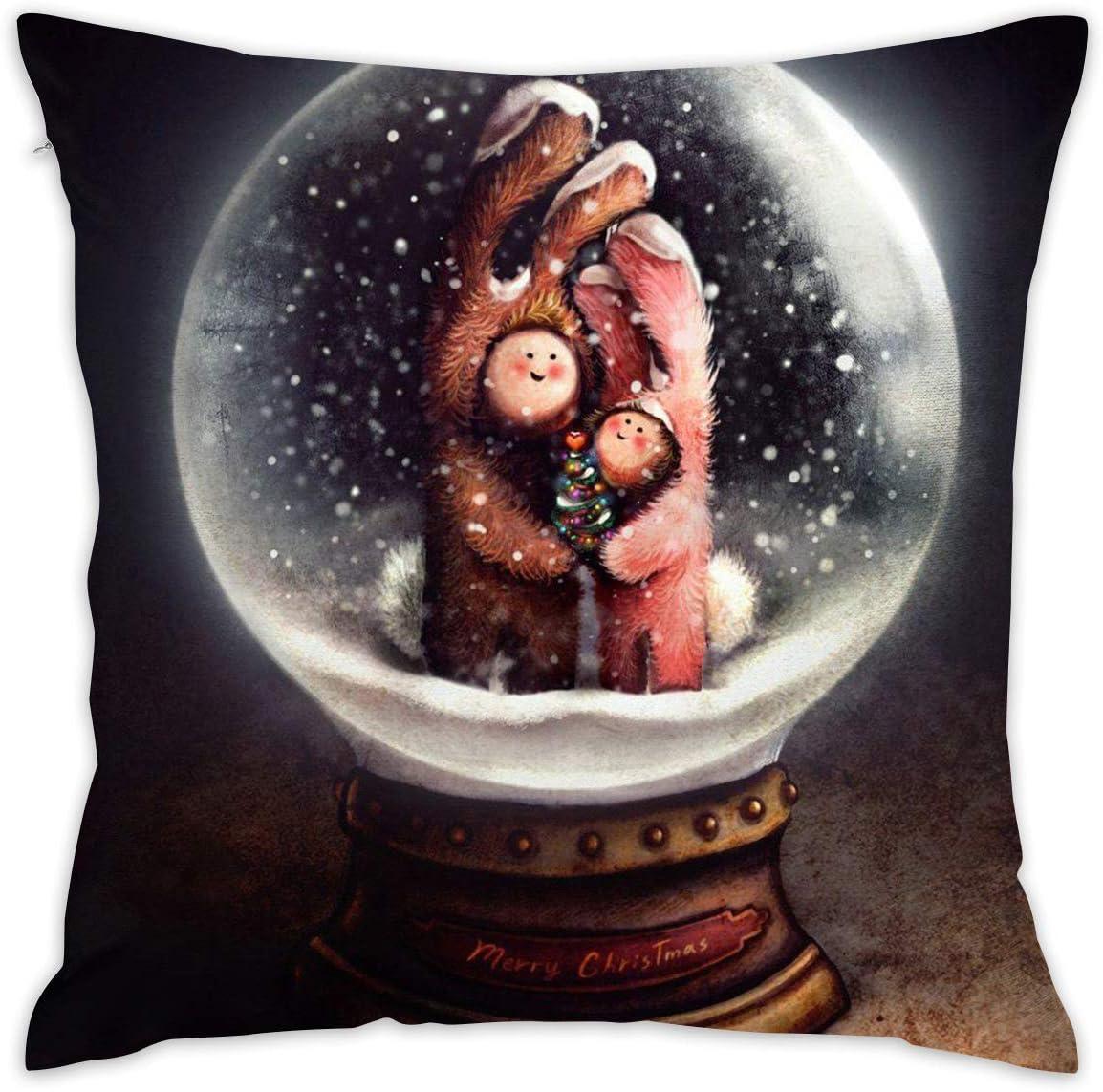 Amazon Com Markui Throw Pillow Cover Snow Globe Bed Sofa Pillow Case Sleeping Pillow Soft Cushion 18 X 18 Home Kitchen