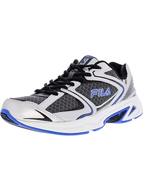 ef00e2eb97bb Fila Men s Memory Thunderfire Dark Silver Metallic Prince Blue Ankle-High  Running Shoe -