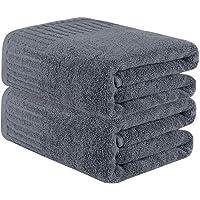 CHRUNONE Juego de toallas de baño, 2 unidades extra grandes, juego de toallas de baño, súperabsorbente, toalla de baño…
