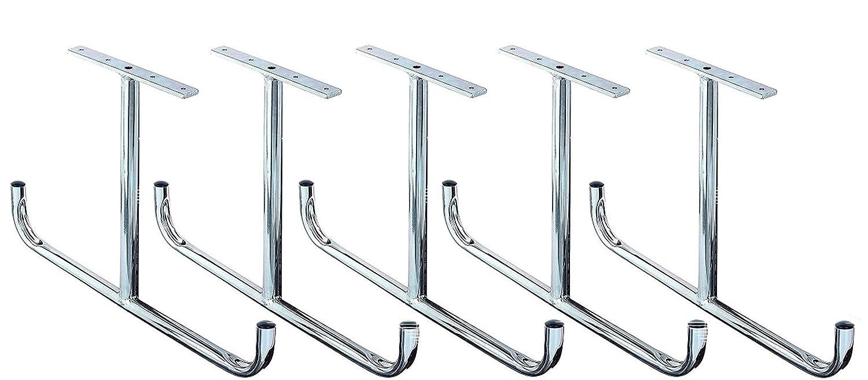 5 verzinkter Stahl abgewinkelt Deckenhaken T-Form 430 x 295 mm Set