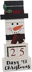 Fun Express Snowman Christmas Countdown Advent Calendar (Wood) Christmas Decorations