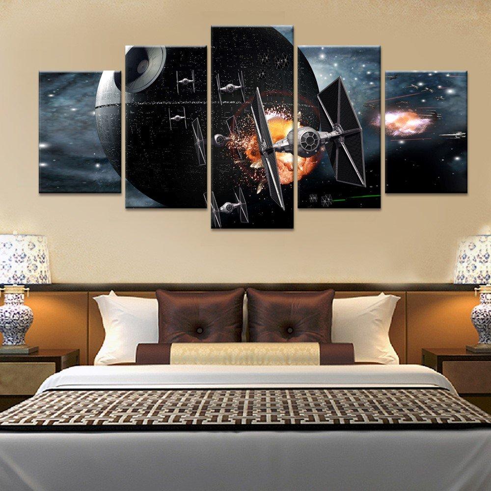 Amazon.com: Star Wars X-Wing Fighter, . Canvas Wall Art Framed 5 ...