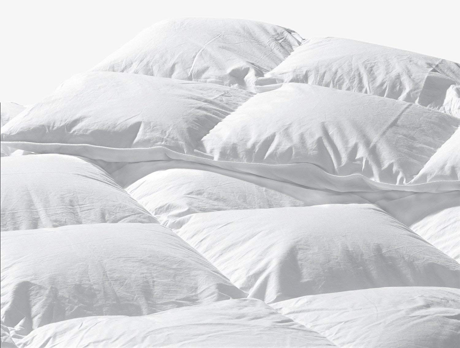 Highland Feather Manufacturing 50-Ounce Limousine European Down Duvet, Queen, White Highland Feather Manufacturing Inc. B4-133-Q50