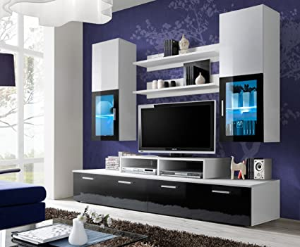 Amazon.com: TOLEDO Entertainment Center with multicolor LED system ...