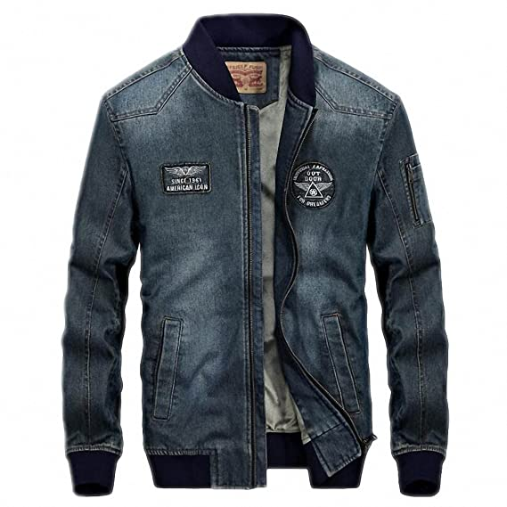 Autumn Winter Denim Jacket And Coat Men Warm Windbreaker Fleece Jeans Outerwear Plus Size M-4XL Jeans Jackets Men at Amazon Mens Clothing store: