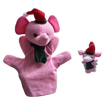 Happy Event 2 Unidades Navidad Suave Toallas de Mano fingerpuppe Baby Infant Kid Juguete Peluche Juguete