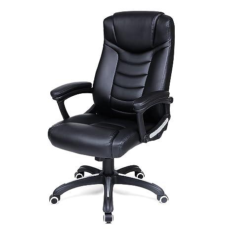 Ergonomischer bürostuhl  SONGMICS Ergonomischer Bürostuhl, höhenverstellbarer Drehstuhl, robust,  stabil und langlebig, schwarz, OBG21B