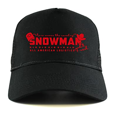 SMOKEY AND THE BANDIT  SNOWMAN LOGISTICS Trucker Cap (One Size Fits  All Black 4f75afbf6edf
