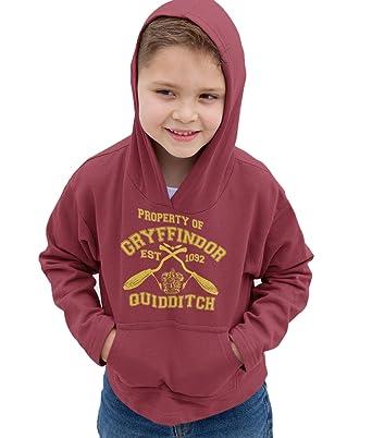 66d2fcec6 Kids Harry Potter Gryffindor Quidditch Team Hogwarts College Hoodie Children  Sizes: Amazon.co.uk: Clothing