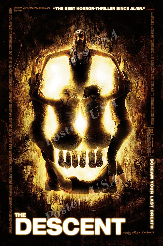 """Posters USA The Descent GLOSSY FINISH Movie Poster - FIL968 (24"""" x 36"""" (61cm x 91.5cm))"""
