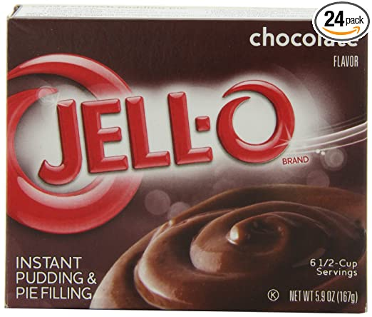 Amazon Com Jell O Instant Pudding Pie Filling Chocolate 5 9 Ounce Boxes Pack Of 24 Cooking And Baking Pudding Mixes Grocery Gourmet Food
