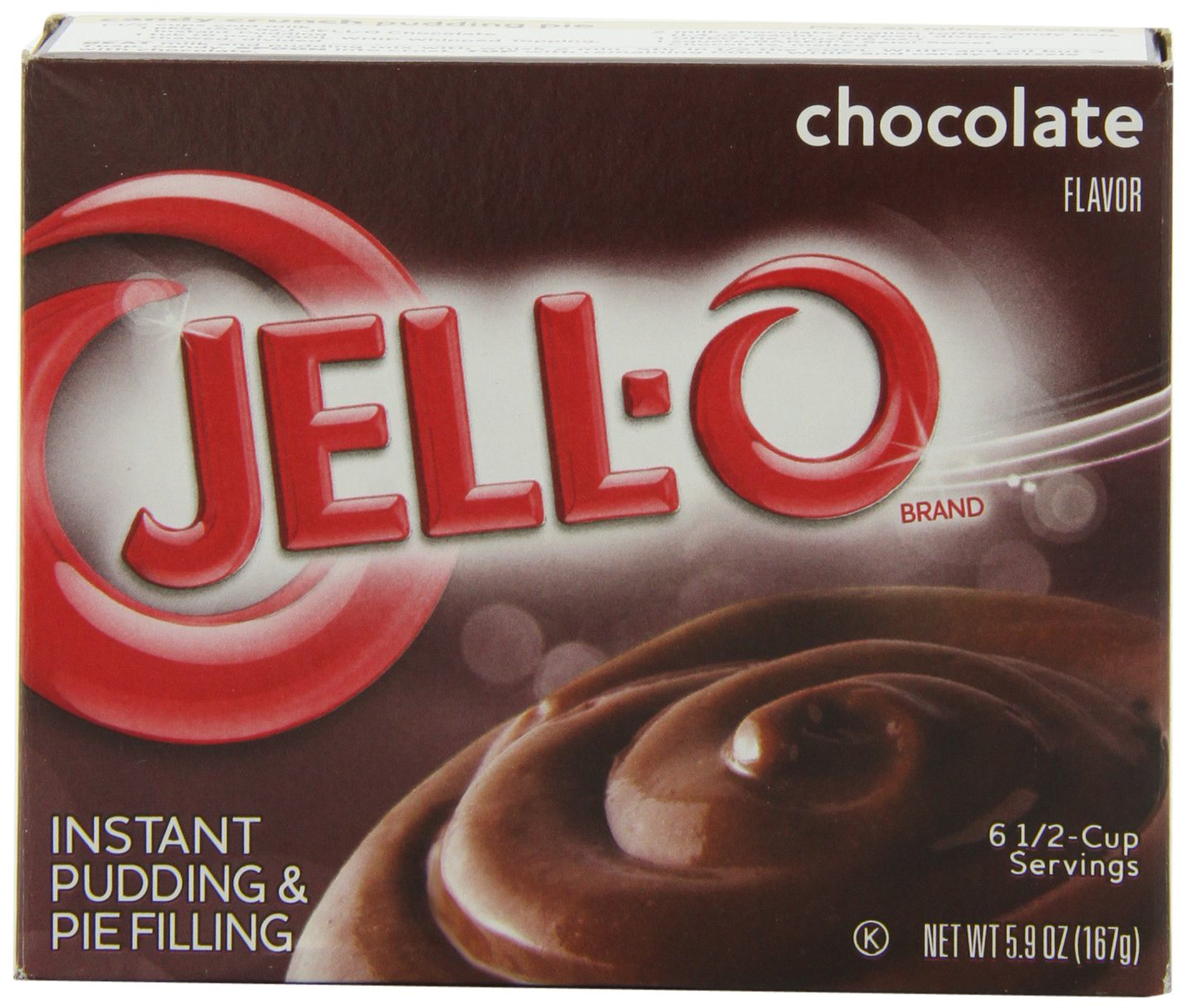 JELL-O Instant Pudding & Pie Filling, Chocolate, 5.9 Ounce Boxes